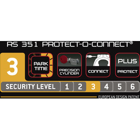 Trelock RS 351 Protect-O-Connect Frame Lock AZ ZR 20, black